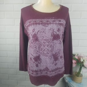 Project Social T xs distressed look sweater